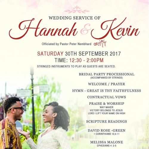 Wedding Service of Hannah