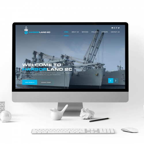 HARBOR LAND 2C WEBSITE UI