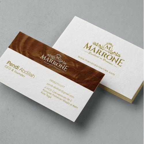 Marrone Brownies Name Card