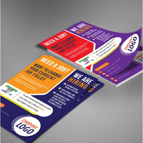 i\'ll design flat  print ready flyer