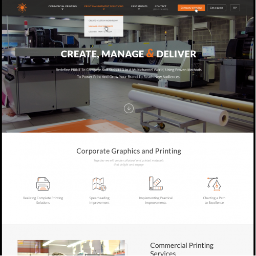Website Homepage Redesign for Printing Company