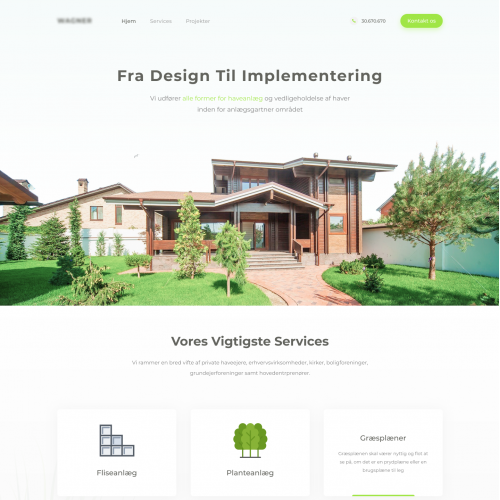 Landing Page for Landscaping Company