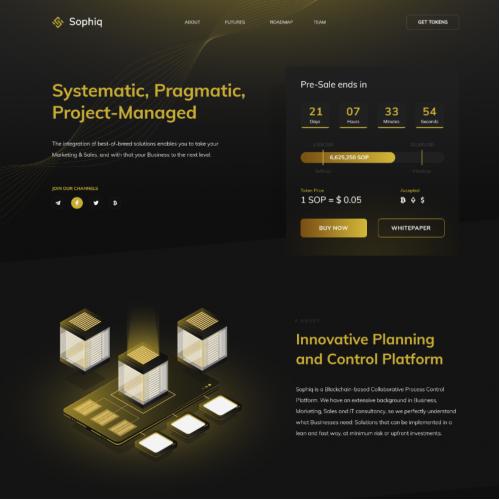 Landing Page for Sophiq