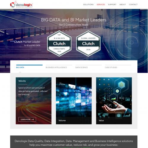 Corporate website design for Denologix