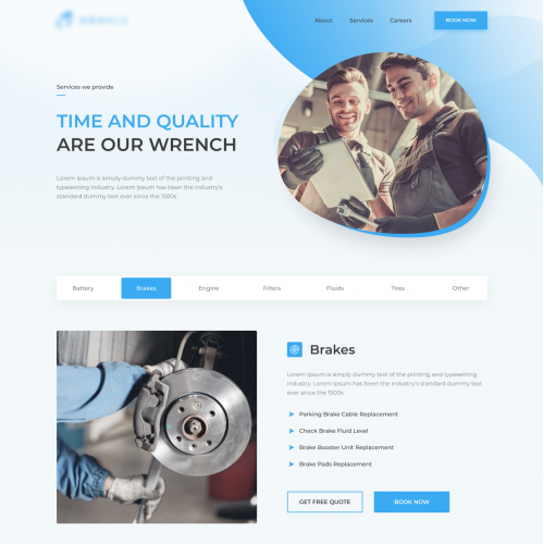 Services Page for Ferros