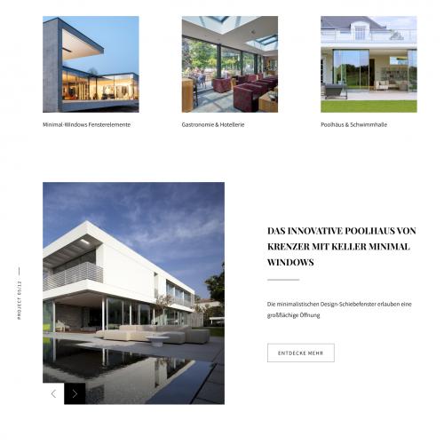 Web redesign for architecture company
