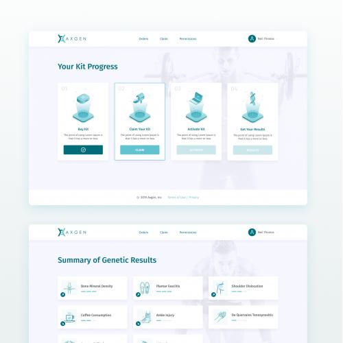 Web App for Athlete DNA Analytics Startup