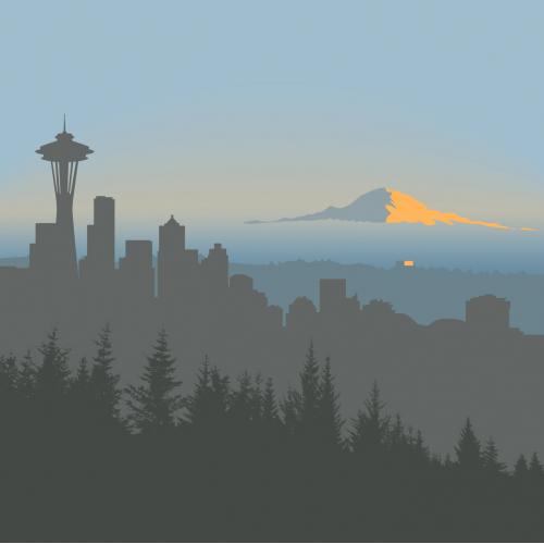Seattle Minimalist Illustration