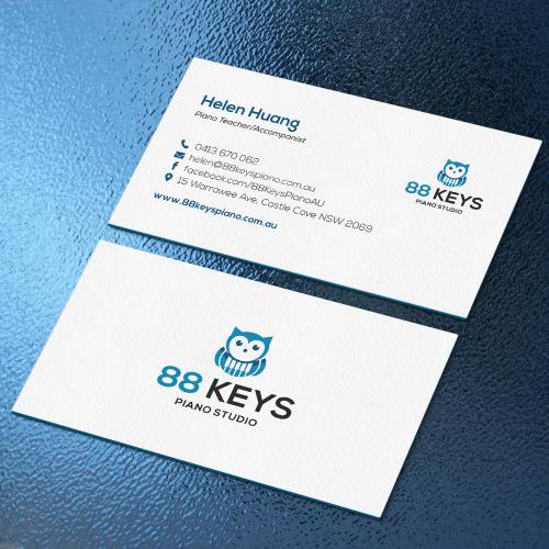 88 Keys Piano Business Card