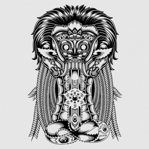 Leak Bali Mask Illustration Design