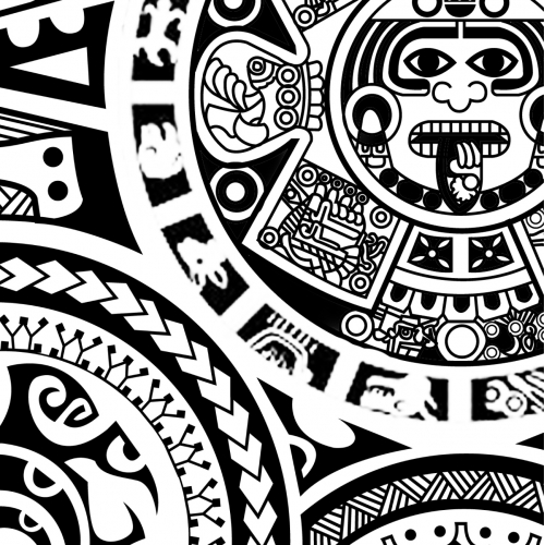 Polynesian Forearm Half Sleeve Tattoo Design
