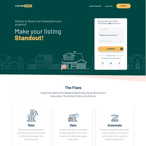 ListingFixer.com - We need a powerful new web design