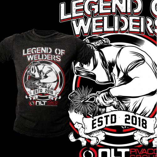 Create a cool illustration for our pipe welders.