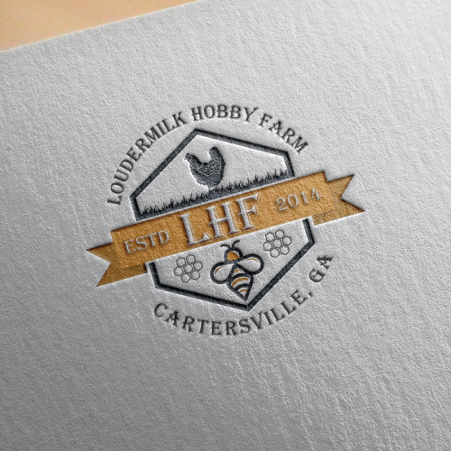 egg and honey farm logo design