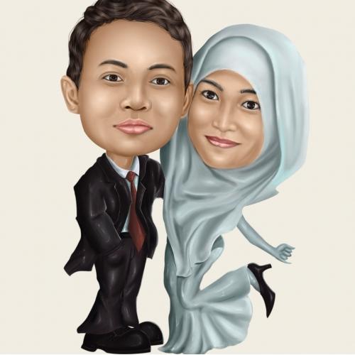 wedding caricature design