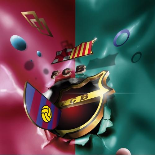 3d barcelona logo for tshirt