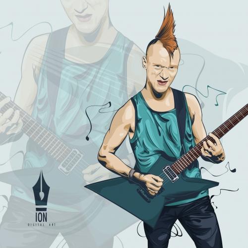 punk rock illustration