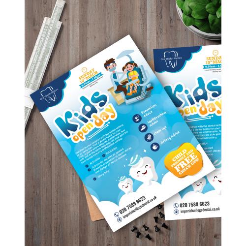 kids dental clinic flyer