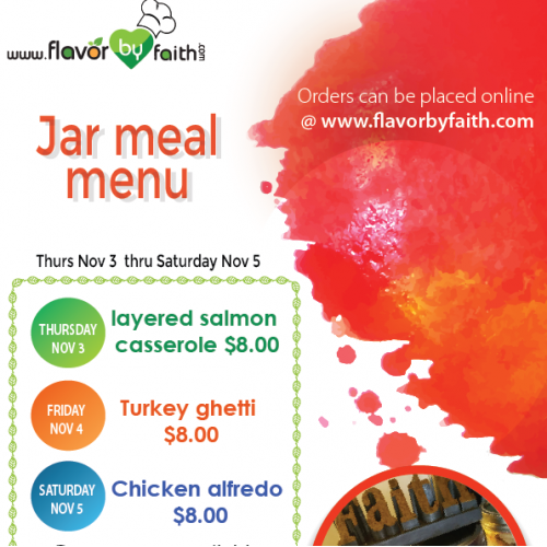 Jar menu Flyer