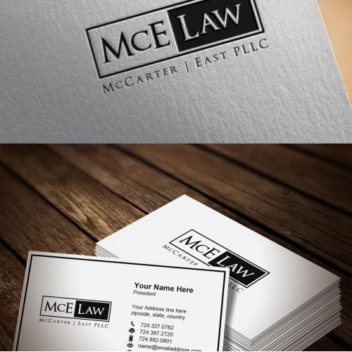 140 Professional, Conservative, Law Firm Logo Designs for McCarter | East PLLC and MCE Law
