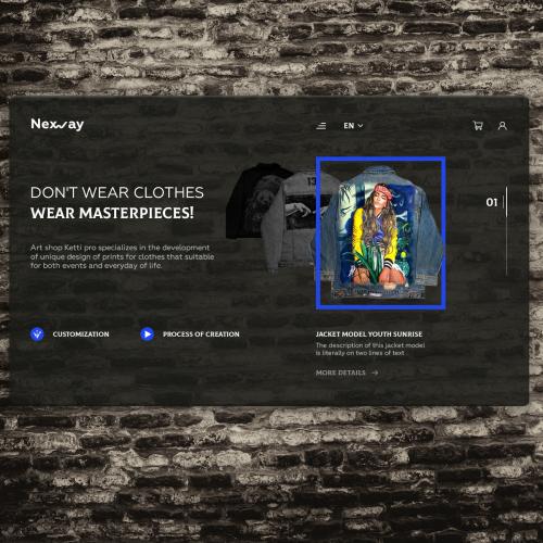 Nexway art shop design concept