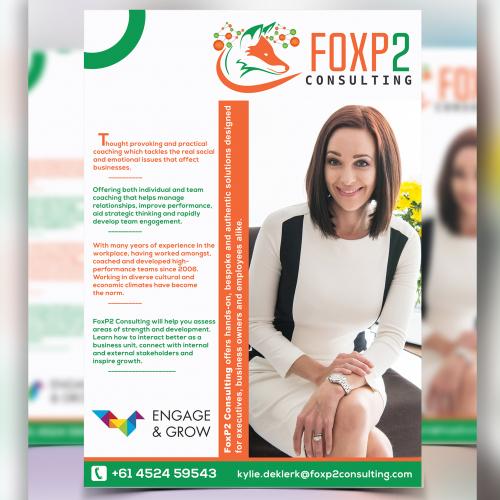 Print Ready Flyer for Foxp2 Company