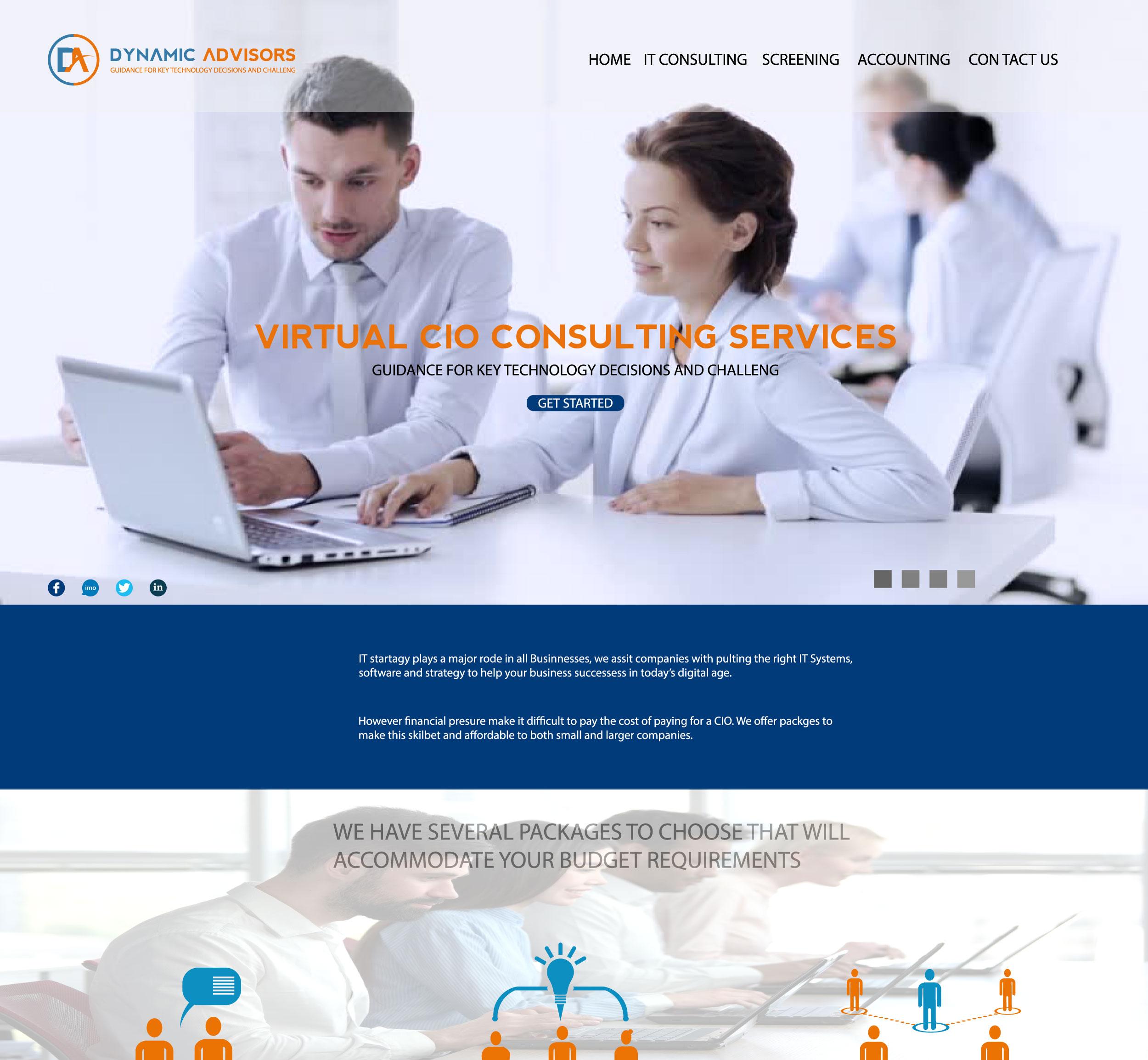 Dynami miadvisors web page design