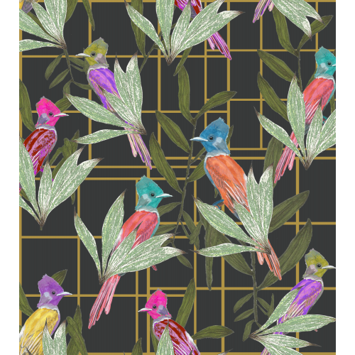 Botanical Bird Pattern Design