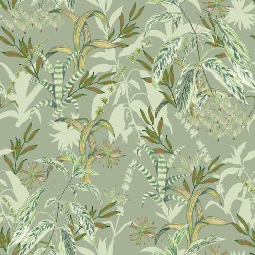 Green Botanical Pattern Design
