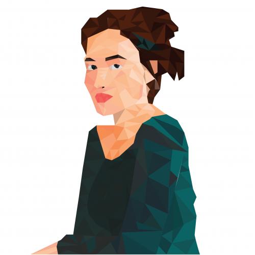 Low Poly Art Woman