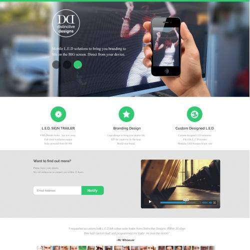 Website design- Homepage