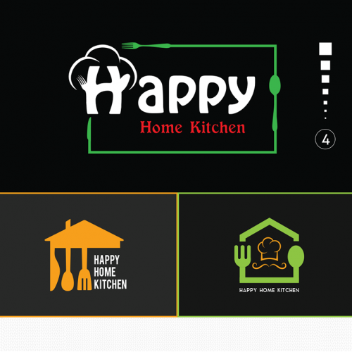 Logo Design for Happy kitchen