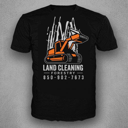 T-shirt design for Land Cleaning