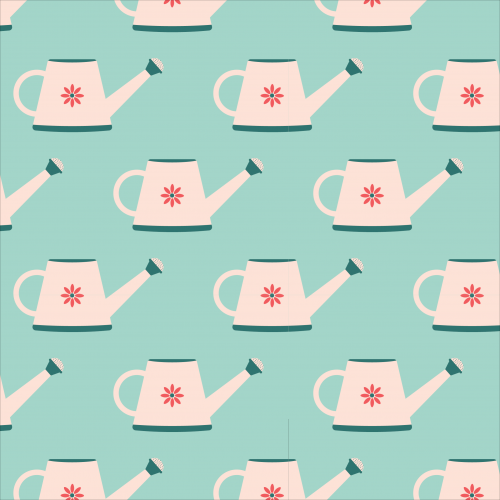 Watering cans pattern