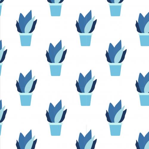 Cute house plants pattern