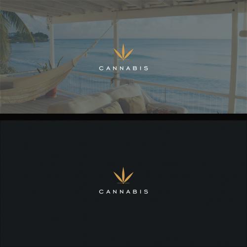 Simple cannabis logo