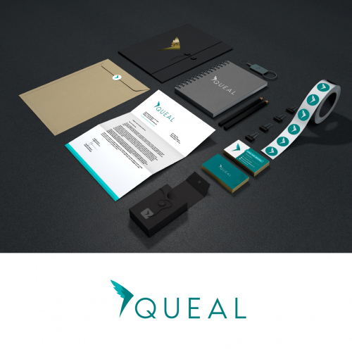 Clean Logo For Queal, A Food Company