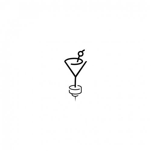 Martini and snacks