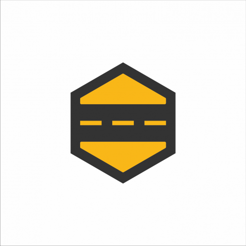 icon for the road logo that has a flat design element .