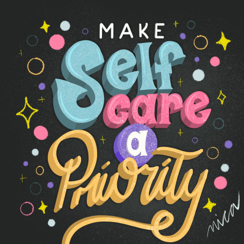 Self Care Hand Lettering by Nica