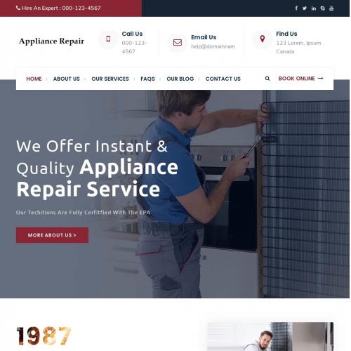Appliance Repair Web Site Design