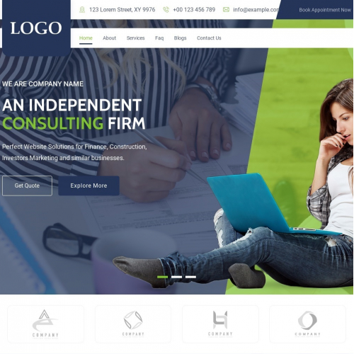 Accountant Web Page Design