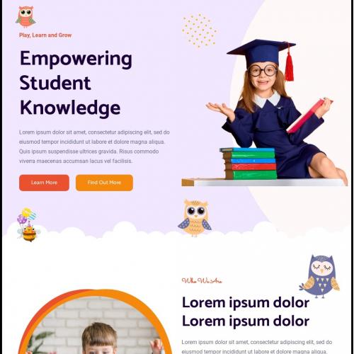 Child Care Website Design