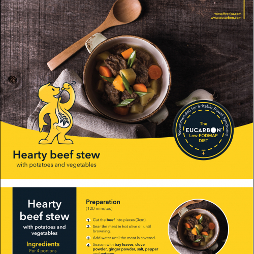 Eucarbon Healthy Recipe flyer design