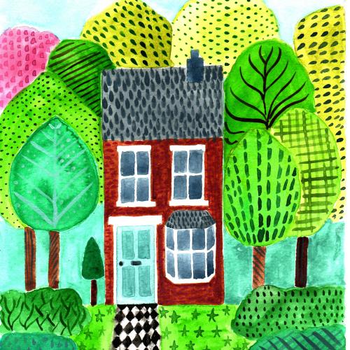 Terraced house pattern