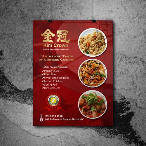 Food poster design