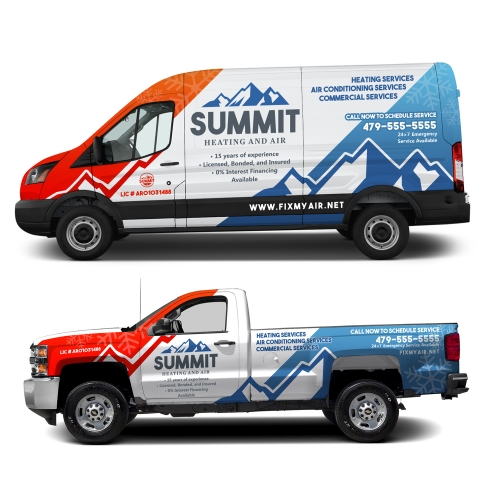 Wrap design for Summit Heating and Air