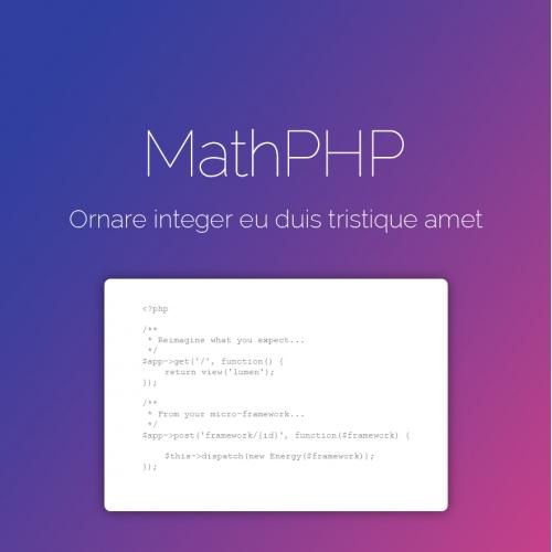 Website design | MathPHP
