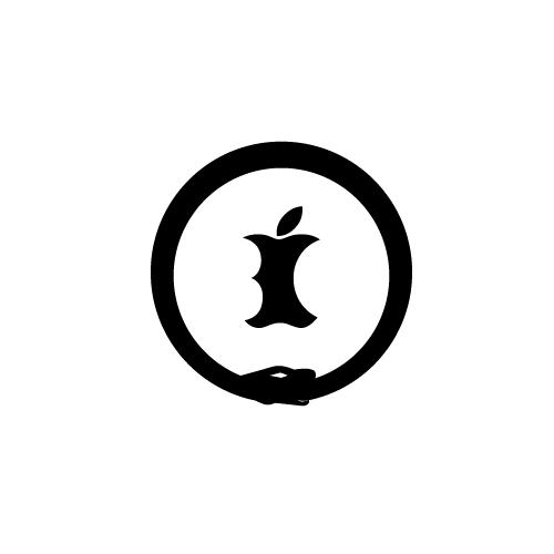 Snake and Apple Logo