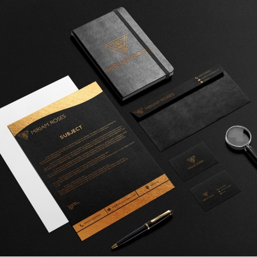 Black Gold Stationery